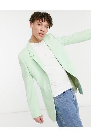ASOS Skinny longline blazer in mint-Green