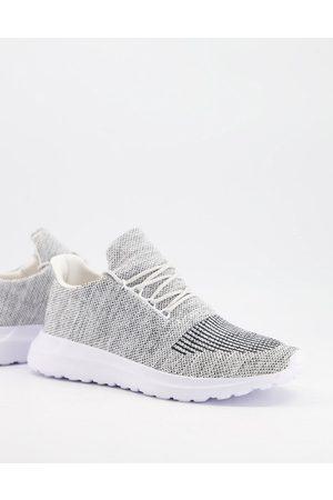New Look Homem Botas - Knitted trainer in grey
