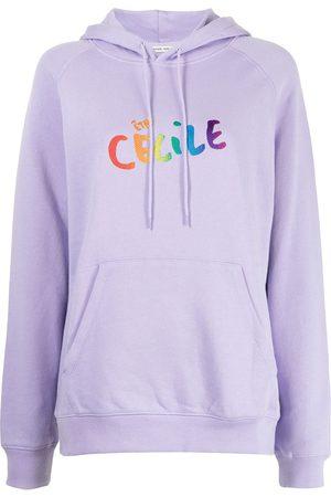 Être Cécile Senhora Tops de Cavas - Logo print hoodie