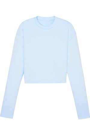 WARDROBE.NYC Cropped long-sleeved cotton top