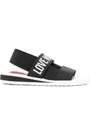 Love Moschino Logo-print slingback sandals