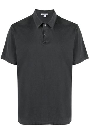 James Perse Sueded-jersey polo shirt
