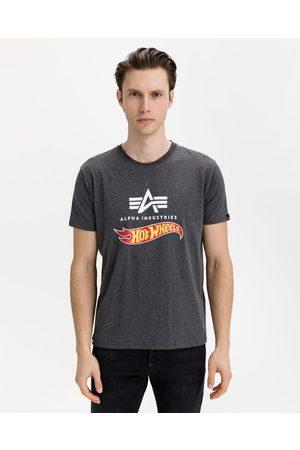 Alpha Industries Hot Wheels Flag T-shirt Grey