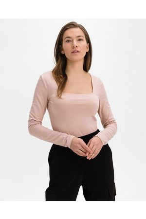 GAP Organic Cotton Squareneck Body Pink Beige