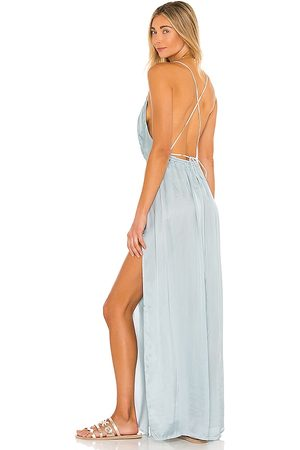 Indah River Maxi Dress in - Baby Blue. Size M/L (also in S/M, XS/S).