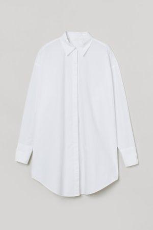 H&M Senhora Casual - Camisa comprida em algodão