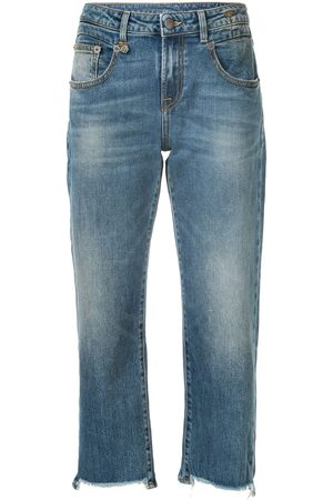 R13 Cropped straight-leg jeans