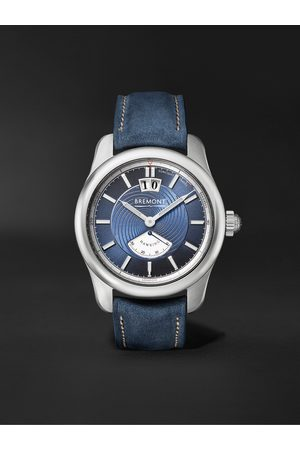 Bremont Homem Relógios - Hawking Limited Edition Automatic 41mm 18-Karat White Gold and Leather Watch