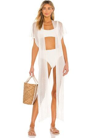 Luli Fama Senhora Túnicas - Fringe Caftan in - White. Size all.