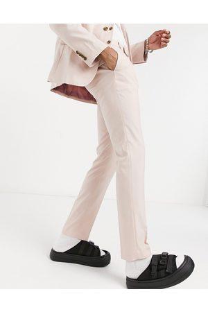 ASOS Wedding skinny suit trousers in rose pink