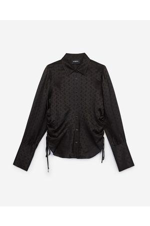 The Kooples Formal black jacquard shirt