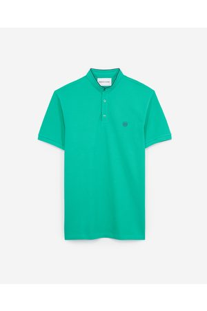 The Kooples Green cotton polo with blue badge