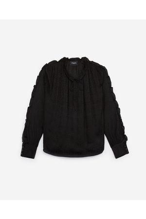 The Kooples Printed oversized silk shirt