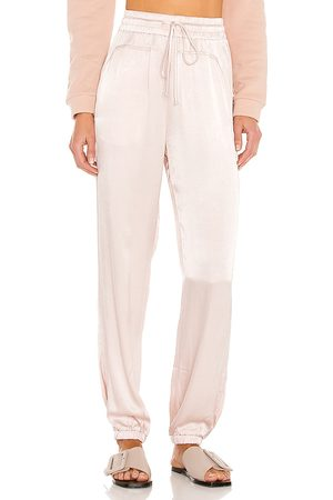Lanston Satin Joggers in - Blush. Size L (also in M, S, XS).