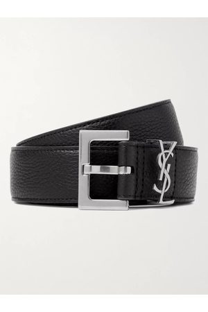 Saint Laurent Homem Cintos - 3cm Full-Grain Leather Belt