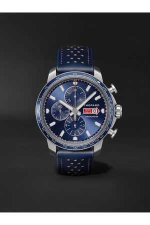 Chopard Homem Relógios - Mille Miglia GTS Azzurro Chrono Automatic Limited Edition 44mm Stainless Steel and Leather Watch, Ref. No. 168571-3007