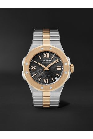 Chopard Homem Relógios - Alpine Eagle Large Automatic 41mm Lucent Steel and 18-Karat Rose Gold Watch, Ref. No. 298600-6001