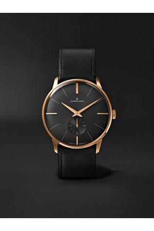 Junghans Homem Relógios - Meister Handaufzug Hand-Wound 37.7mm Stainless Steel and Leather Watch, Ref. No. 027/5903.00