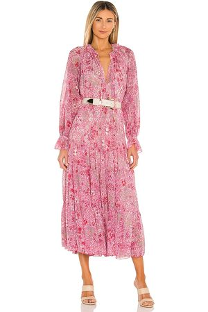 Free People Feeling Groovy Maxi Dress in - Pink. Size L (also in M, S).
