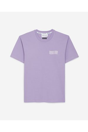The Kooples Purple cotton T-shirt with logo trio
