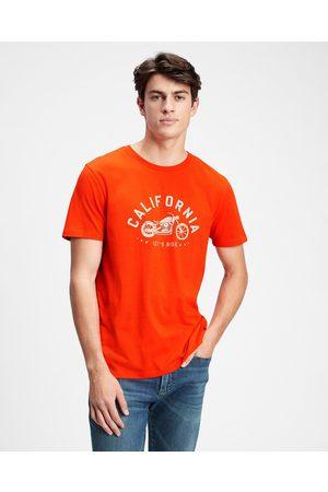 GAP Homem T-shirts & Manga Curta - V-cali Moto T-shirt Red