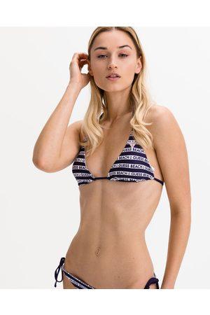 Guess Triangle Bikini top Blue