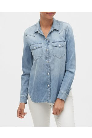 GAP Denim Western Shirt Blue