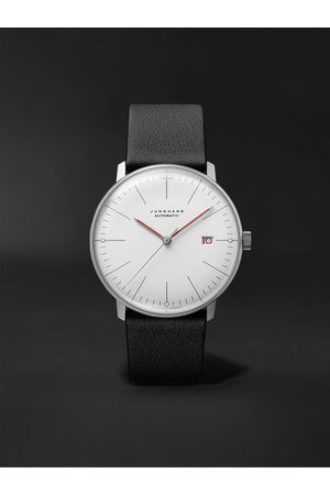 Junghans Max Bill Bauhaus Automatic 38mm Stainless Steel and Textured-Leather Watch, Ref. No. 027/4009.02