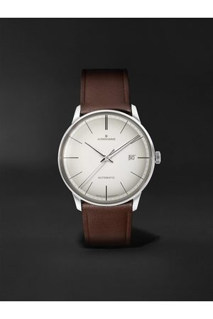 Junghans Homem Relógios - Meister Automatic 38mm Stainless Steel and Leather Watch, Ref. No. 027/4050.00
