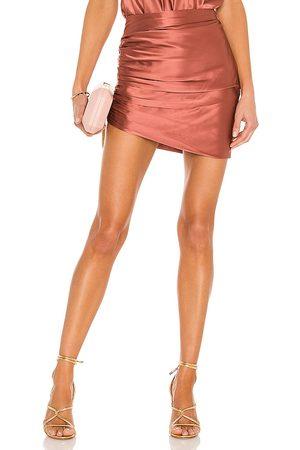 The Sei Senhora Mini-saias - Gathered Asymmetrical Mini Skirt in - Pink. Size 2 (also in 4, 8).