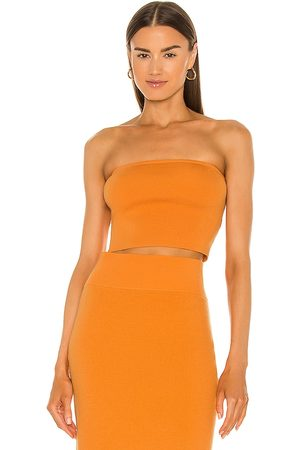 Victor Glemaud Core Tube Top in - Orange. Size L (also in S, XS, M).