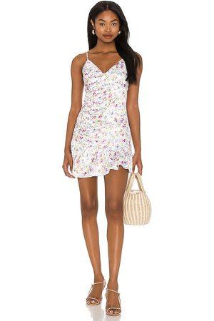 MAJORELLE Melville Mini Dress in - Ivory. Size L (also in XXS, XS, S, M, XL).