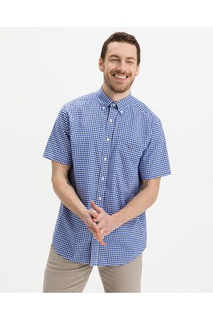 GANT Reg Broadcloth Gingham Shirt Blue