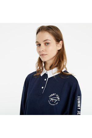 Tommy Hilfiger Crop Tape Rugby Polo Shirt Navy