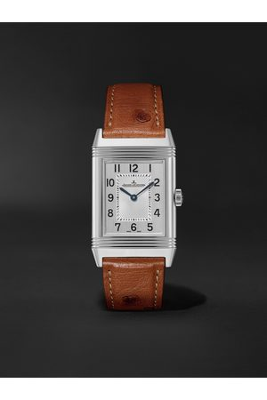 JAEGER-LECOULTRE Homem Relógios - Reverso Classic Medium Thin Hand-Wound 24.4mm Stainless Steel and Ostrich Watch, Ref. No. Q2548441