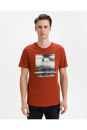 Jack & Jones Homem T-shirts & Manga Curta - Jump T-shirt Red Orange