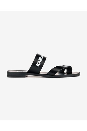 Karl Lagerfeld Skoot II Toe Loop Strap Sandals Black