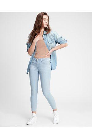 GAP Senhora Jeggings - V-Favorite Jeans Blue