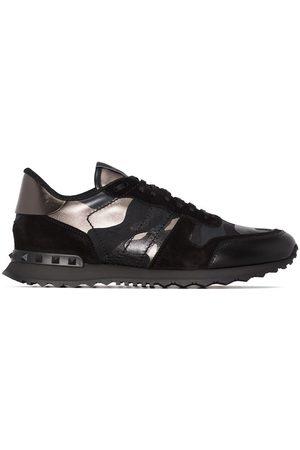 VALENTINO GARAVANI Homem Ténis - Rockrunner metallic camouflage-print sneakers