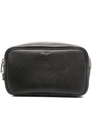 Saint Laurent Homem Nécessaires - Small leather wash bag