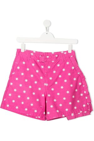 Nº21 TEEN star-print ruffled shorts
