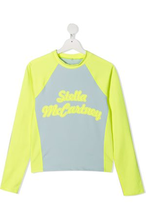 Stella McCartney Menino Manga comprida - Logo-print long-sleeve top