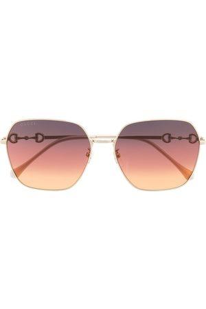 Gucci Eyewear Senhora Óculos de Sol - GG0882 Horsebit detail sunglasses