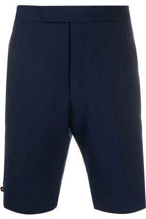 Thom Browne Homem Calções - Hopsack weave backstrap shorts