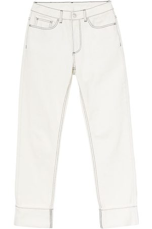 Burberry Senhora Retos - Straight-fit topstitched washed jeans
