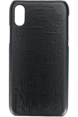 Saint Laurent Homem Phones - Crocodile effect iPhone 10 case