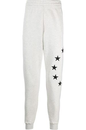 Etudes Star-embroidery organic-cotton track shorts