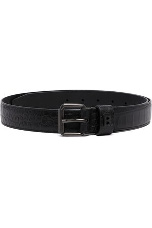 Balenciaga Logo-plaque crocodile-effect belt
