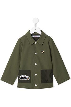 Familiar Menino Formal - Embroidered car motif shirt jacket
