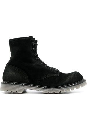 Premiata Homem Botas - Contrast-stitching leather boots